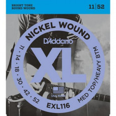 Струны D'Addario Nickel Wound 11-52 (EXL116XL)