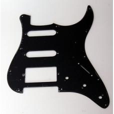 Панель (pickguard) для электрогитары S-S-H, однослойная, черная (H-1002D)