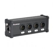 CXA029 DMX коммутатор/преобразователь, 4хXLR(5p)male - RJ-45, Soundking