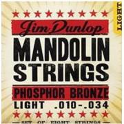 DMP1034 Комплект струн для мандолины, фосф.бронза, Light, 10-34, Dunlop