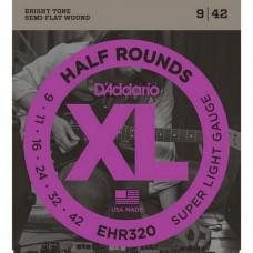 Струны D'Addario Half-Rounds 9-42 (EHR320)