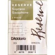 DIR0235 Reserve Трости для саксофона сопрано, размер 3.5, 2шт, Rico