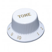 KW-240TI Ручка потенциометра, Tone, белая, дюймы, Hosco
