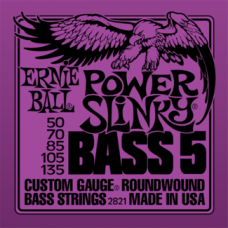 Струны Ernie Ball Power Slinky Bass 5-string 50-135 (2821)