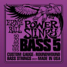 Струны Ernie Ball Power Slinky Bass 5-string 50-135 (2821)