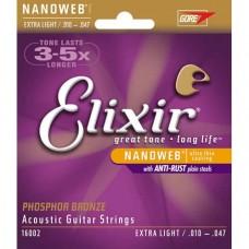 Струны Elixir NanoWeb Phosphor Bronze Acoustic 10-47 (16002)