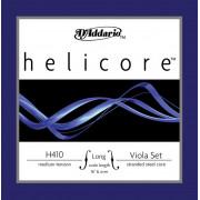 H410-LM Helicore Комплект струн для альта полного размера, среднее натяжение, D'Addario