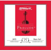 J610-3/4M Prelude Комплект струн для контрабаса размером 3/4, среднее натяжение, D'Addario