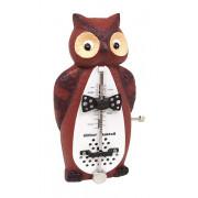 839031 Taktell Owl Метроном механический, без звонка, сова, Wittner
