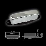 BT-100A-CR Звукосниматель магнитный, сингл, нековый, хром, Belcat