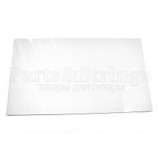 Пластик Hosco для изготовления панелей (pickguard), лист 23х39 см, трехслойный, белый (PG-W3)