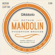 EJ80 Комплект струн для мандолины октавной, фосфорная бронза, 12-46, D'Addario