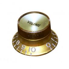 Ручка потенциометра громкости Hosco, под дюймовый шток, золото KG-130VI, 1шт