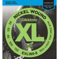Струны D'Addario Nickel Wound Bass 5-string 45-135 (EXL165-5 XL)