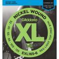 Струны D'Addario Nickel Wound Bass 6-string 32-135 (EXL165-6 XL)