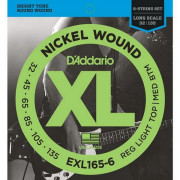 Струны D'Addario Nickel Wound Bass 6-string 32-135 (EXL165-6 XL)