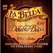 610 Комплект струн для контрабаса размером 3/4, сталь, La Bella