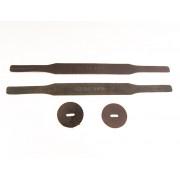 GRT-1 Ремни для оркестровых тарелок, кожа, черные, Grig