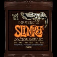 Струны Ernie Ball Hybrid Slinky Acoustic 10-52 (2151)