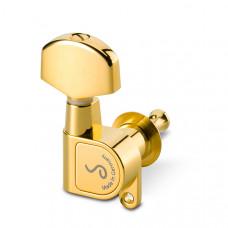 10010523.02.36 M6 180 Комплект одиночной колковой механики, 3л+3п, большие, золото, Schaller