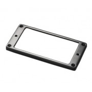 17040411 Рамка звукоснимателя, металл, прямая, низкая, черный хром, Schaller