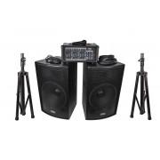 ZH0602D15LS Комплект акустической системы, микшер, микрофон, кабели, 2х250Вт, Soundking