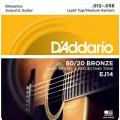 Струны D'Addario 80/20 Bronze Acoustic 12-56 (EJ14)