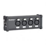 CXA030 DMX коммутатор/преобразователь, 4хXLR(5p)female - RJ-45, Soundking