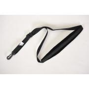 ЛРСФ2 Ремень для саксофона, фагота, на шею с мягкой накладкой, черный, с карабином ЛЮТНЕР