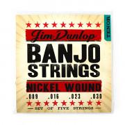 DJN0930 Комплект струн для банджо тенор, никель, 9-30, Dunlop