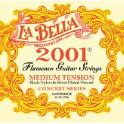 2001FM 2001 Flamenco Medium Комплект струн для классической гитары, среднее нат, посеребр., La Bella
