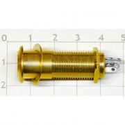 Разъём Hosco EP-108G Jack 6.3 прямой, маленькие контакты, Золото