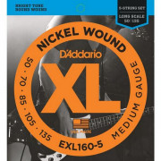 Струны D'Addario Nickel Wound Bass 5-string 50-135 (EXL160-5 XL)