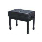 HY-PJ007-GLOSS-BLACK Банкетка, черная, искусственная кожа, Rin
