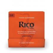 RKA0120-B25 Rico Трости для саксофона тенор, размер 2.0, 25шт в индивидуальной упаковке, Rico