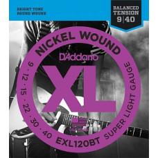 Струны D'Addario Nickel Wound 9-40 (EXL120BT)