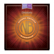 NBM11540 Nickel Bronze Комплект струн для мандолины, фосф/бронза, Custom Medium, 11.5-40, D'Addario