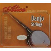 AJ04 Комплект струн для банджо, сталь/медь, 009-030, Alice