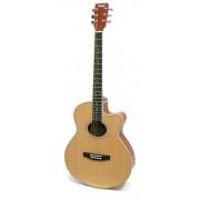 Акустическая фолк-гитара Homage 40 c вырезом, цвет натуральный (LF-401C-N)