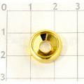 Втулка под винты для крепления грифа Hosco HK-NFSG, золото, 1шт