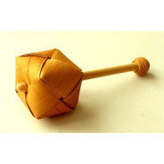 18012 Шаркунок плетеный на палочке с шишечкой, Шаркунок
