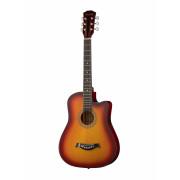 Акустическая гитара Fante с вырезом, цвет санберст (FT-D38-3TS)