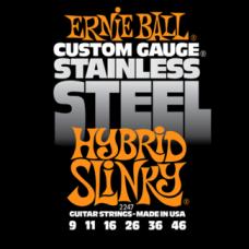 Струны Ernie Ball Stainless Steel Hybrid Slinky 9-46 (2247)