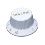 KW-240VI Ручка потенциометра, Volume, белая, дюймы, Hosco