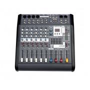 LFX-8MT Микшерный пульт 8 каналов, 400Вт, USB, Leem