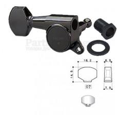 Колок правый (реверсный) Gotoh SG381-07-R/WS Черный