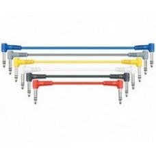 Комплект кабелей LEEM jack-jack стерео 30 см, 6 штук. (CPSL-1)