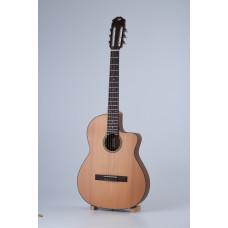 Электроакустическая классическая гитара Kibin классик слим, цвет натуральный, с чехлом