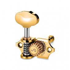 10510523.41.30 GrandTune Комплект одиночной колковой механики, 3л+3п, золото, Schaller