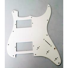 Панель (pickguard) для электрогитары H-H, однослойная, белая (H-1003B)